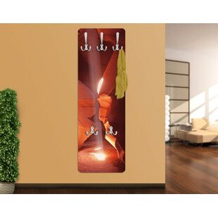 Review Light Shaft In The Antelope Canyon Wall Mounted Coat Rack