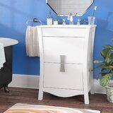 Karter Exquisite Floor Mount 24 Single Bathroom Vanity Set by Ebern Designs