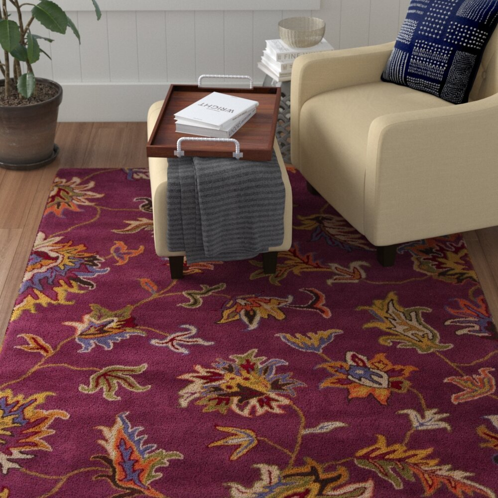Red Barrel Studio Jonas Purple Area Rug Wayfair