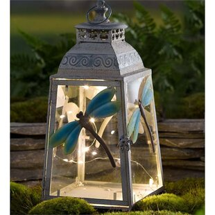 Dragonfly Metal 1 Light Decorative Lantern by Wind & Weather