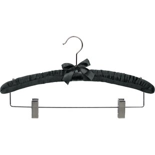 Best Reviews Butler Combo Hanger Padded Wood Hanger (Set of 12) By Rebrilliant