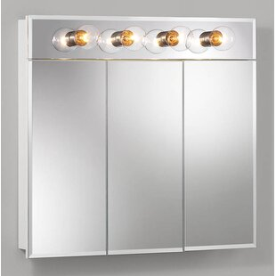 Clearance Ashland 30 x 27.75 Surface Mount Medicine Cabinet with Lighting By Jensen