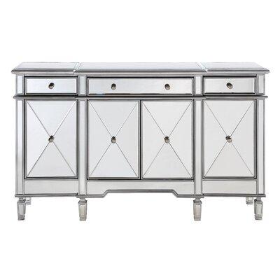 "Willa Arlo Interiors Contempo 60"" Wide 3 Drawer Sideboard  Color: Antique Silver"