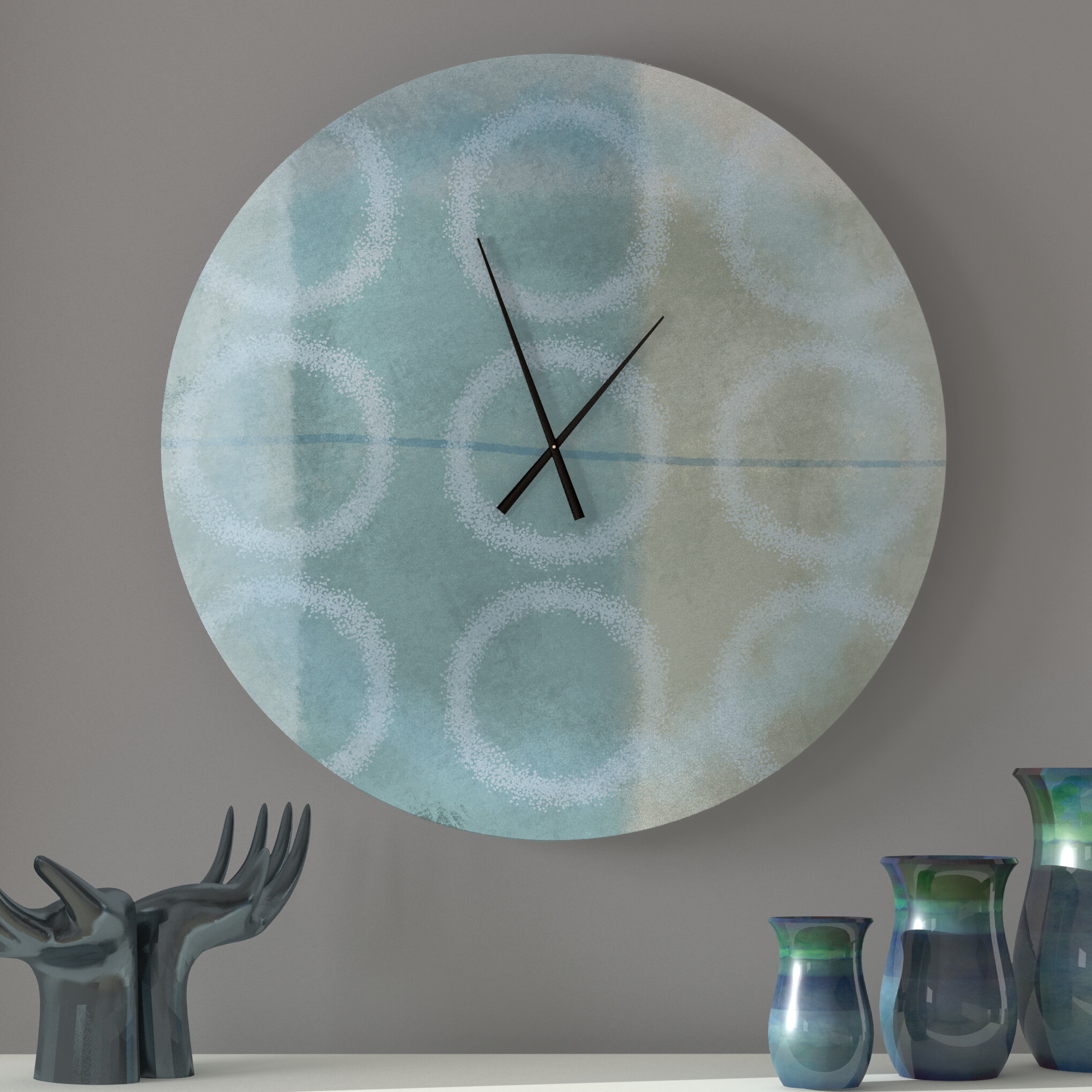 Ebern Designs Unblemished Bodacious Abstract Metal Wall Clock Wayfair