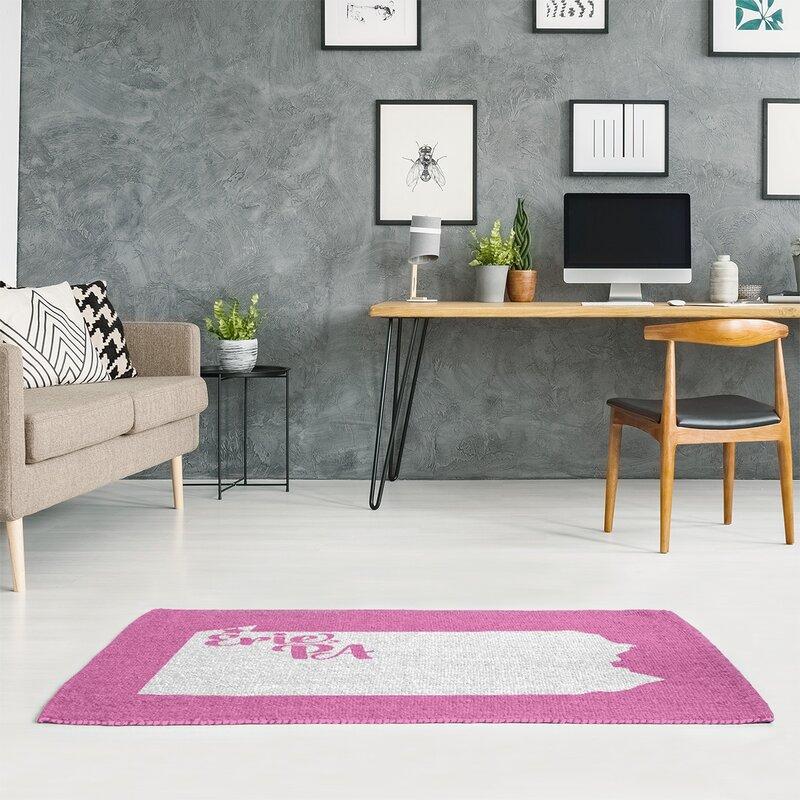 East Urban Home Erie Pennsylvania Pink Area Rug Wayfair