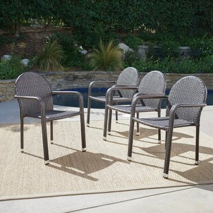 Wiesner Stacking Patio Dining Chair (Set of 4)