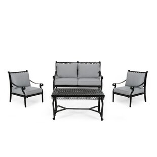 Central City Outdoor 4 Piece Sofa Seating Group with Cushions