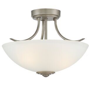 Amee Contemporary 2-Light Semi Flush Mount by Red Barrel Studio