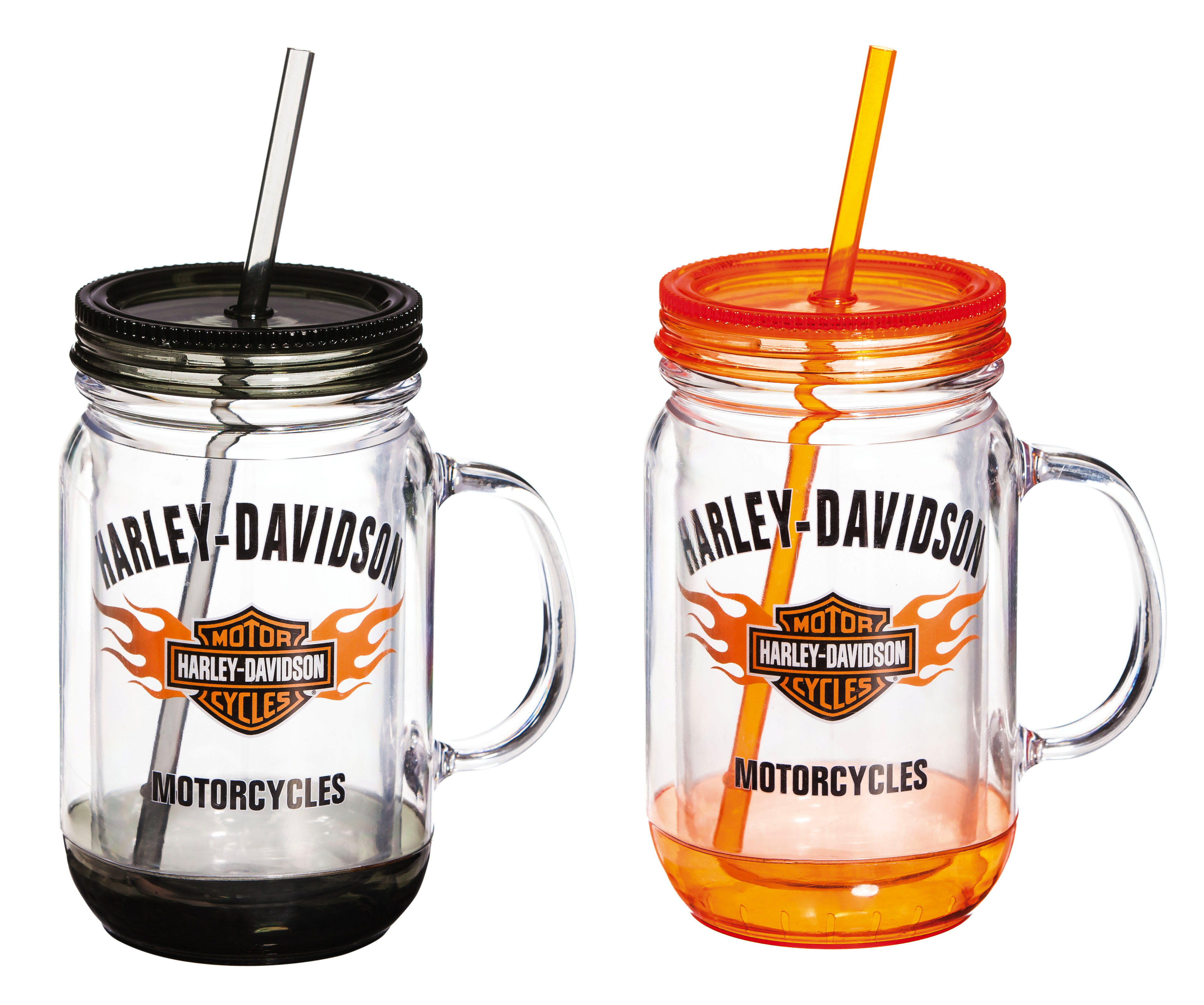 Evergreen Enterprises Inc Harley Davidson 18 oz Plastic Mason
