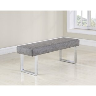 Orren Ellis Cassian Faux Leather Bench