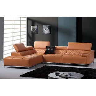 Coalpit Heath Leather Sectional by Orren Ellis Find
