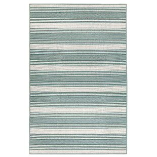Ricki Stripe Blue/White Indoor/Outdoor Area Rug