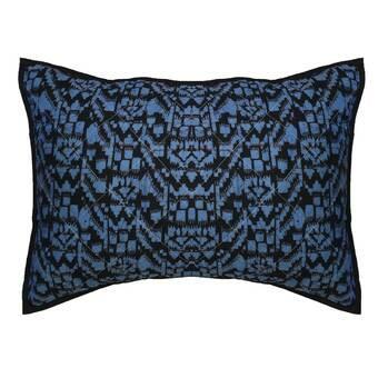 Kess InHouse EBI Emporium Chevron Wonderland II Blue Black Bed Runner