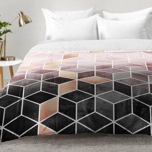 East Urban Home Gradient Cubes Comforter Set