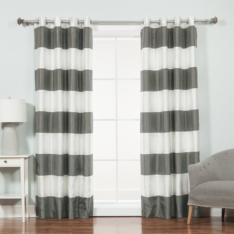 Camden Striped Blackout Thermal Tap Top Curtain Panel