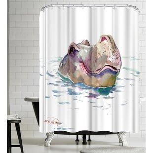 East Urban Home Suren Nersisyan Hippo Shower Curtain