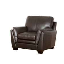 Whitstran Top Grain Leather Armchair by Darby Home Co