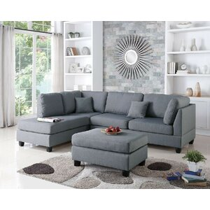 Bibler Reversible Sectional by Mercury Row