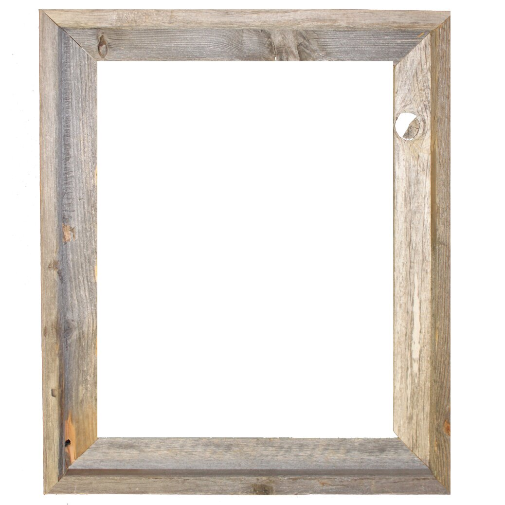 Rustic Reclaimed Barn Wood Open Picture Frame - Rustic Picture Frames You'll Love Wayfair