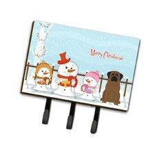 Merry Christmas Carolers Bullmastiff Leash or Key Holder by Caroline's Treasures