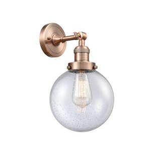 Jackeline 1-Light Bath Sconce by Breakwater Bay