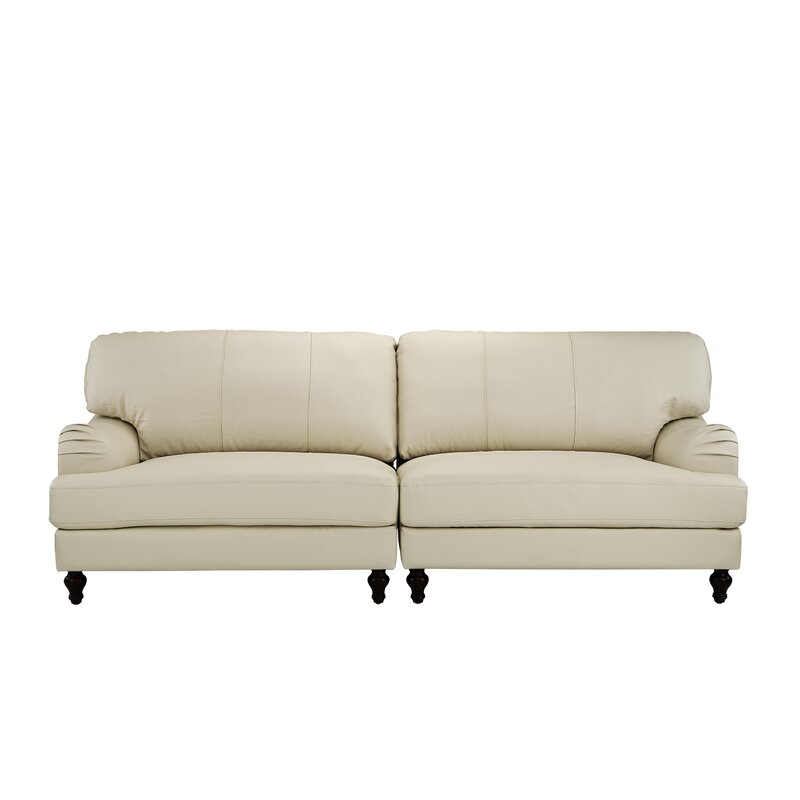 Boell Convertible 2 Piece Leather Sofa