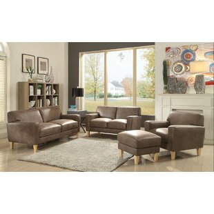 Escaler Leather Loveseat by Ivy Bronx