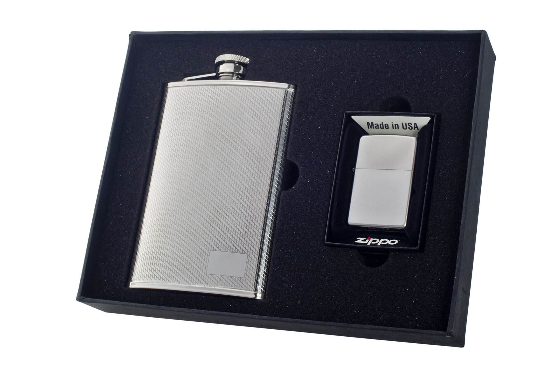 Visol Turtle Stainless Steel Hip Flask Chrome 6-Ounce Satin Finish