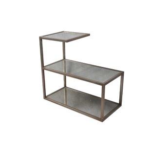Pinar Glass Top Floor Shelf End Table Set (Set Of 2) By Rosdorf Park