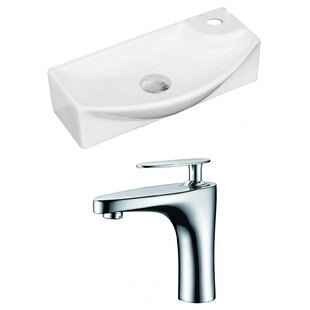 Find Ceramic Rectangular Vessel Bathroom Sink with Faucet By American Imaginations