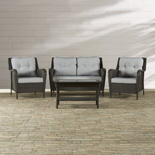 Rockland 4 Piece Sofa Set With Cushions by Three Posts Purchase