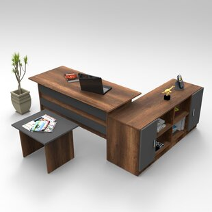 Gabe 3-Piece Standard Desk Office Suite By Ebern Designs