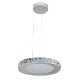 House of Hampton Miyashiro 1-Light LED Drum Pendant