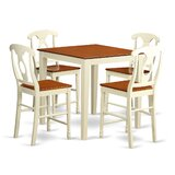 Neven Solid Wood Dining Set by Charlton Home®