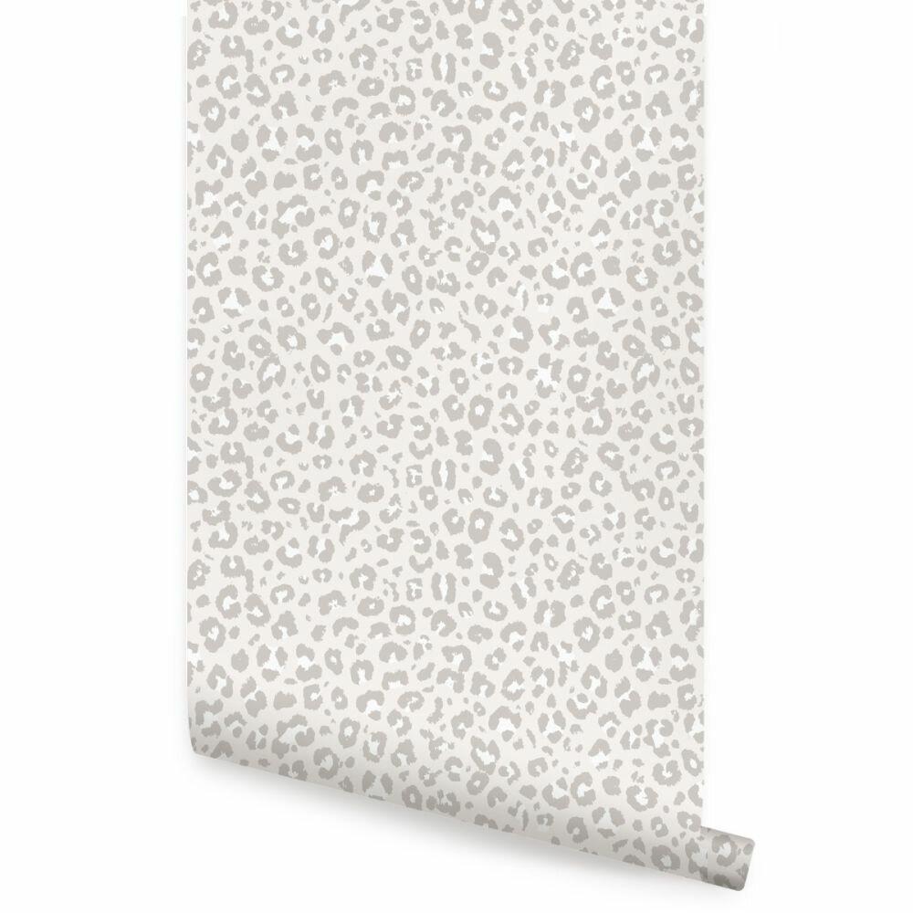 Everly Quinn Wechsler Leopard Paintable Peel And Stick Wallpaper Panel Reviews Wayfair
