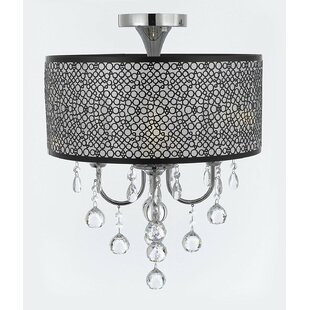 Rosdorf Park Altair Bubble 4-Light Semi Flush Mount