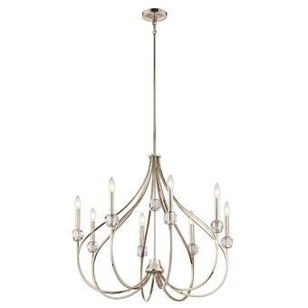 Gracie Oaks Siavash 8 Light Candle Style Empire Chandelier Reviews Wayfair