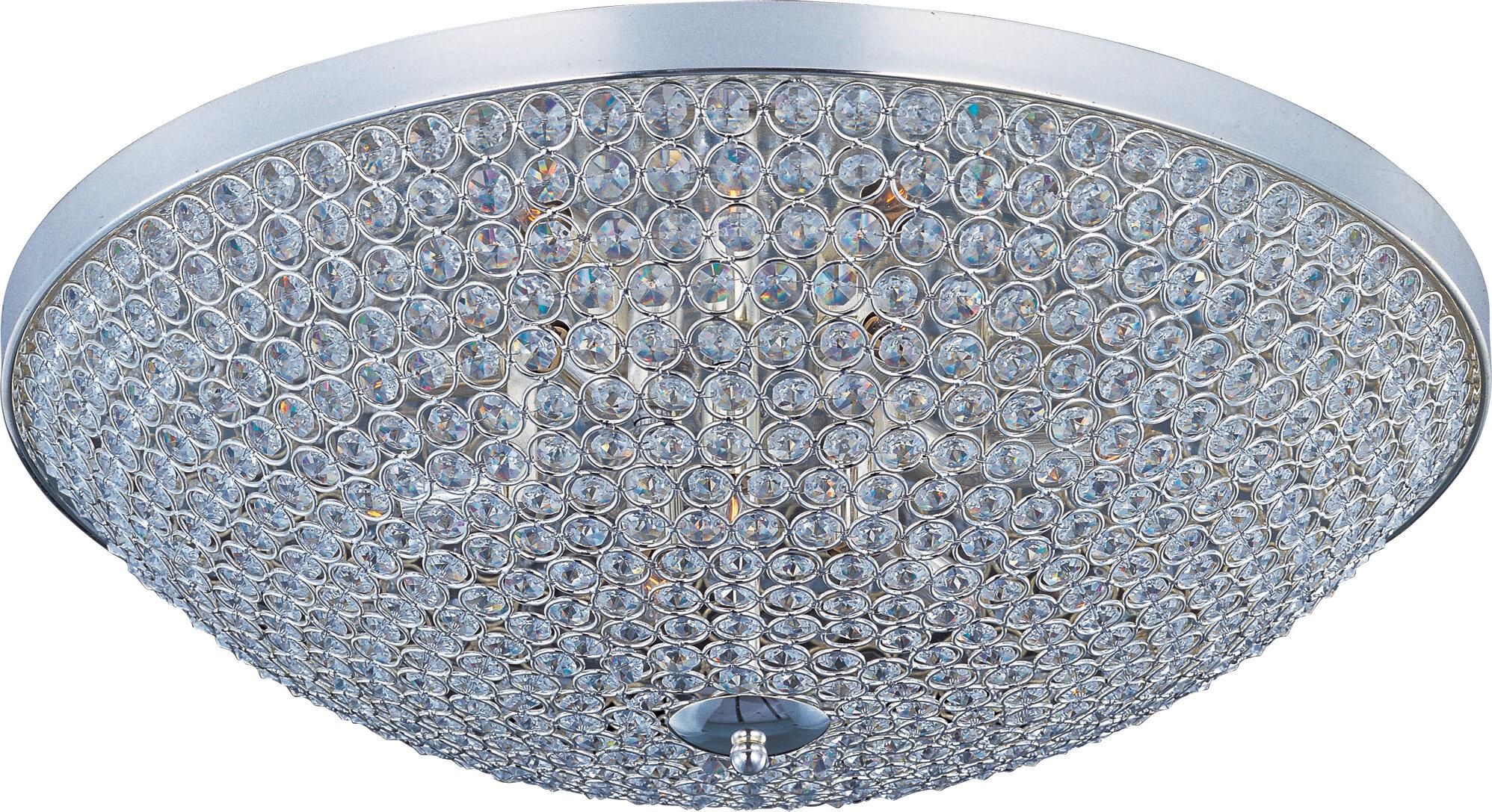 Willa Arlo Interiors Krueger 6 Light 19 Cluster Bowl Flush Mount Reviews Wayfair