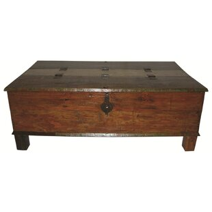 Lottie Box Trunk Coffee Table Loon Peak
