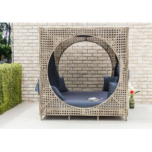 Brennon Cube Patio Daybed With Cushions by Bungalow Rose #1