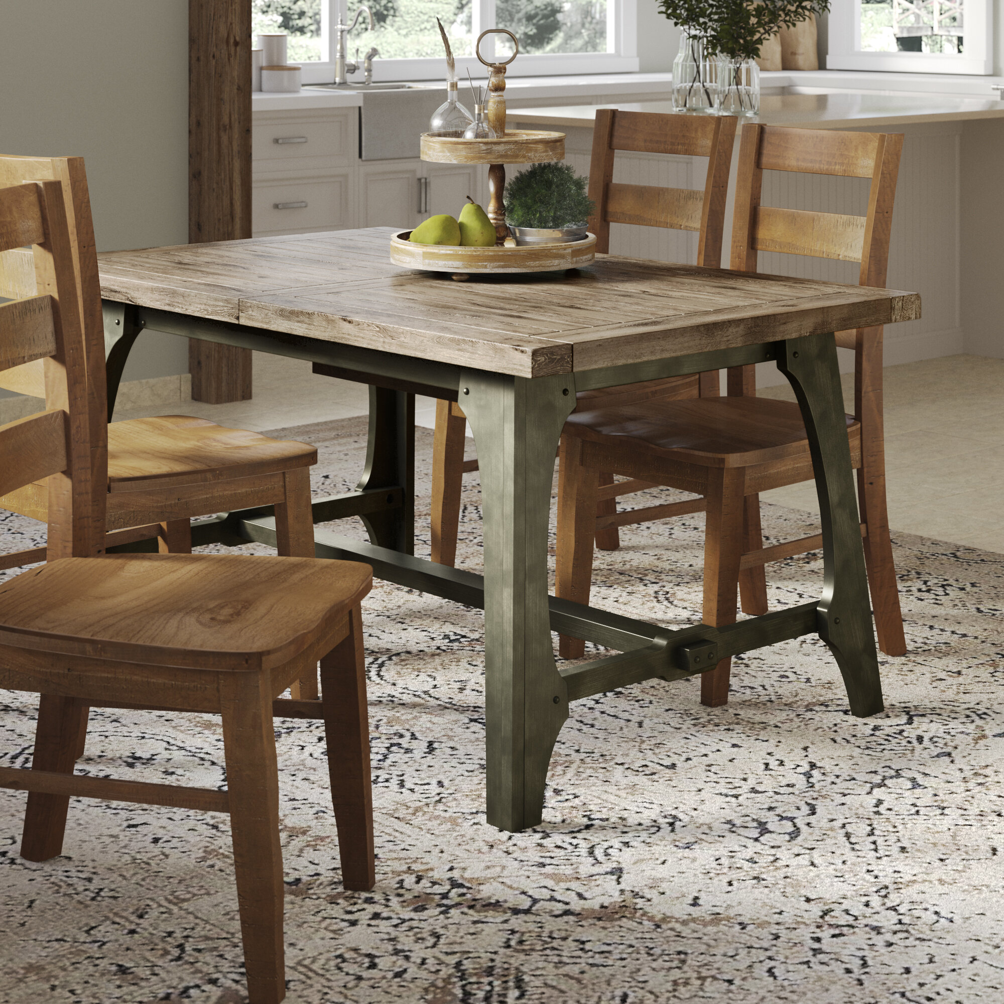 bf5ae47478c Gracie Oaks Casimir Extendable Dining Table   Reviews