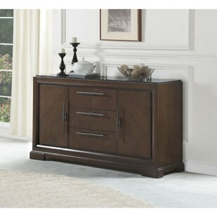 Coley Three Drawers Wooden Credenza Alcott Hill