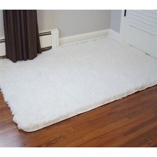 Affordable Ledoux Plush White Area Rug By Ebern Designs