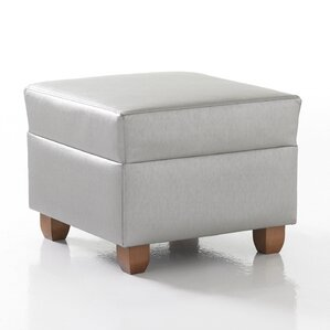 Crosby Square Ottoman in Grade 4 Fabric by S..