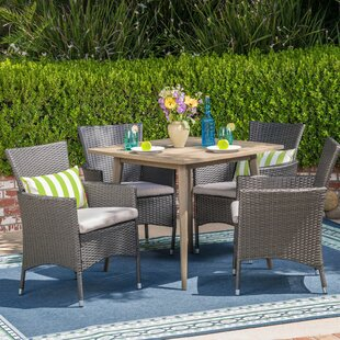 Winston Porter Kampmann 5 Piece Dining Set with Cushions