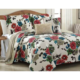 Spring Country Garden Reversible Quilt Set