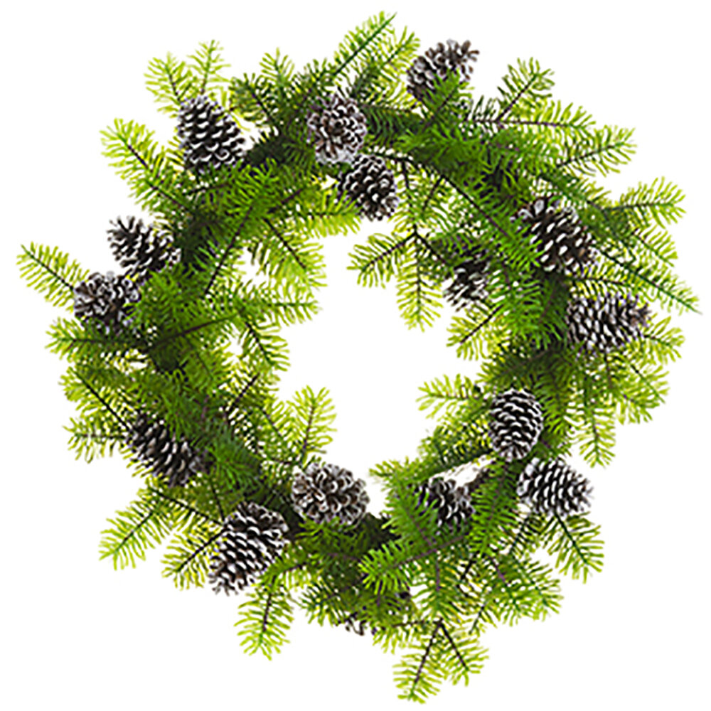 The Holiday Aisle Norway Spruce And Pinecone 30 Pvc Wreath Wayfair