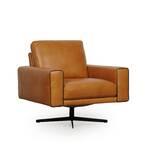 Claydon Full Leather Swivel Armchair by Orren Ellis
