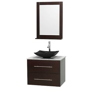 Centra 30 Wall-Mounted Single Bathroom Vanity Set with Mirror by Wyndham Collection