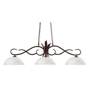 Fleur De Lis Living Beehler 3-Light Pool Table Light Pendant